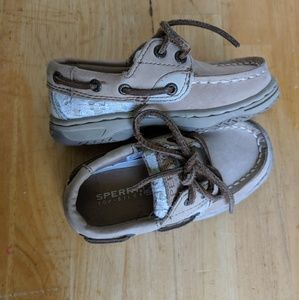 Toddler Girls Leather Sperry Top-Sider size 7